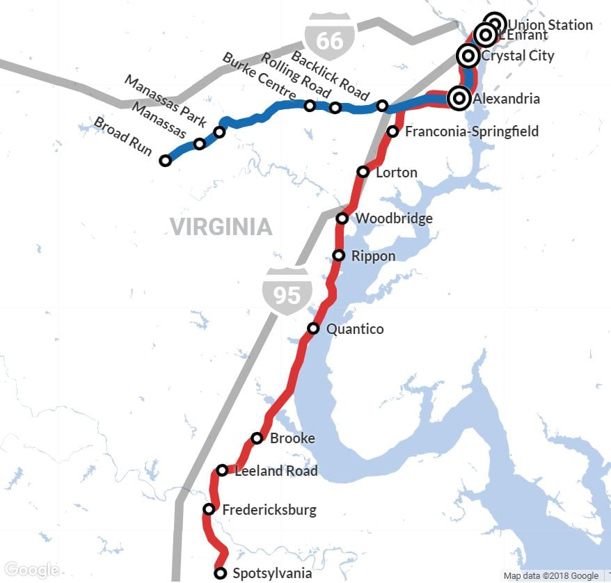 vre map